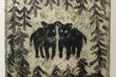 2.Black dogs in the forest  ¥9,500( 額・税込)